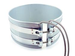 Band heater with B1 stainless steel braid leads