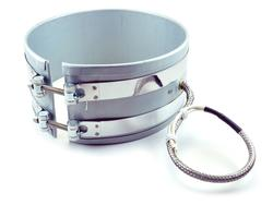 Band heater with B3 stainless steel braid leads