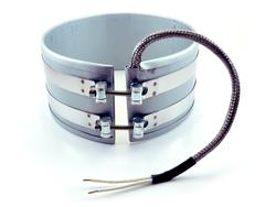 Band heater with B5 stainless steel braid leads